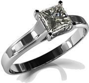 Diamond Solitaire from Silver Owl Jewelers