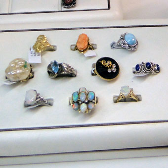 Rings - Precious and semi-precious rings.